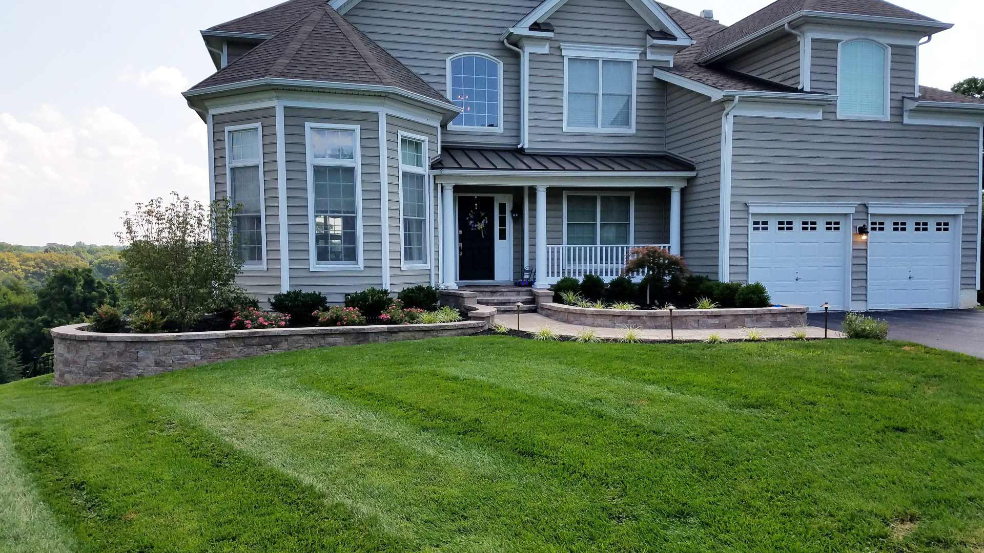 A West Chester, PA home with landscaping services.