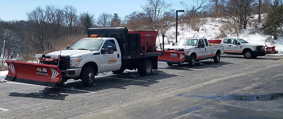 Our trucks equipt with plows.